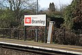 2017 at Bramley station - station sign.JPG