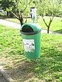 2018-03-10 Dog waste bin, Parque da Alfarrobeira, Albufeira.JPG