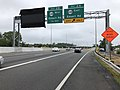 2019-06-13 11 48 08 View north along Interstate 395 (Henry G. Shirley Memorial Highway) at Exit 2A (Virginia State Route 648 EAST-Edsall Road) on the edge of Lincolnia and Springfield in Fairfax County, Virginia.jpg