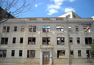 Redevelopment - An abandoned building in Washington, D.C. being converted into luxury condominiums.