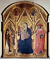 2 Osservanza Master. Pala dell'Osservanza Madonna col Bambino, Ambrogio e Girolamo. 1436, Siena, Basilica dell'Osservanza.jpg