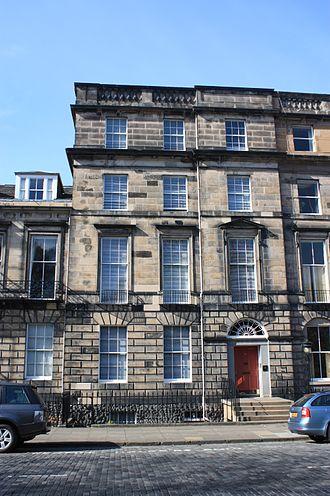George Deas, Lord Deas - Lord Deas' huge townhouse at 32 Heriot Row, Edinburgh