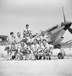 Hellenic Air Force - Greek pilots of the 335th Fighter Squadron in Egypt (1942).