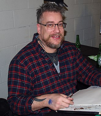 Simon Bisley - Bisley at the 2015 East Coast Comicon in Secaucus, New Jersey