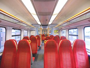 British Rail Class 458 - The original interior of Standard Class accommodation