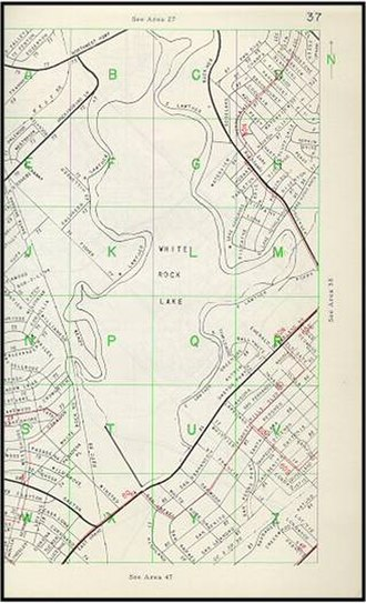 Mapsco - 1955 Dallas Mapsco detail