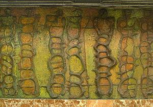 Passeig de Gràcia station - Artwork by Angel Orensanz on a platform at Passeig de Gràcia