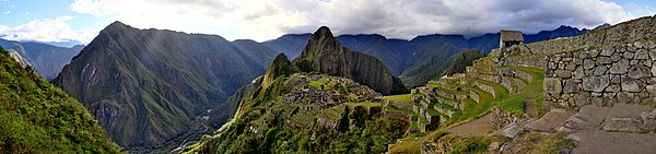 The iconic Machu Picchu, symbol of the Inca civilization.