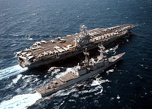 960711-N-7340V-001 Ships Conduct UNREP