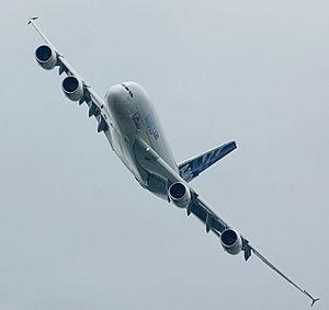 A380 flyby, ILA 2006 /A380 im schnellen Vorbei...