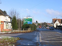 A38 Bromsgrove approaching Junction 1 M42 - geograph.org.uk - 1107677.jpg