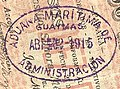 ADUANA MARITIMA DE GUAYMAS ADMINISTRACION. 44x30 mm. Pick handstamp (1913) Anything Anywhere.jpg
