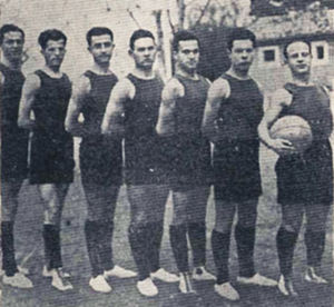 AEK B.C. - The basketball team in 1928