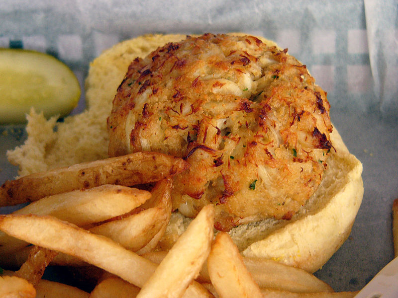 File:A Delicious Crabcake at the Middleton Tavern.jpg