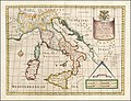 A New Map of Present Italy, together with the Adjoyning Islands of Sicily, Sardinia and Corsica, Shewing thier Principal Divisions, Cities, Towns, Rivers, Mountains, &c.jpg