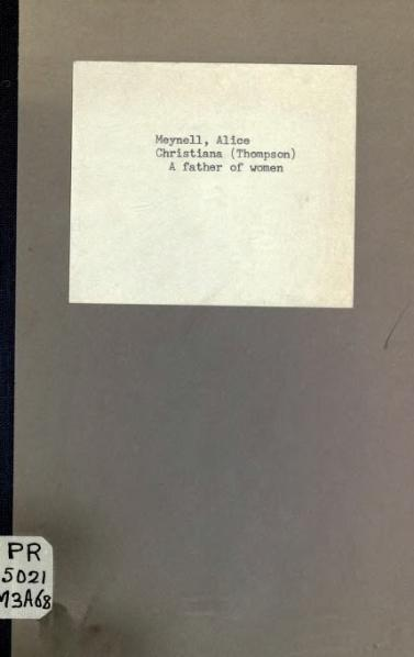 File:A father of women, and other poems, Meynell, 1917.djvu