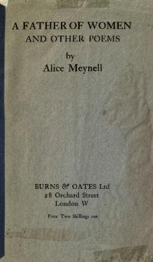 A father of women, and other poems, Meynell, 1917.djvu