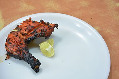 Tandoori chicken wikiwand a portion of a tandoori chicken at a restaurant in india forumfinder Image collections