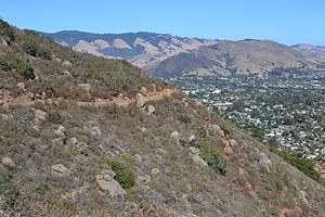 Bishop Peak (California) - Image: A portion of the Bishop Peak trail