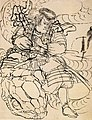 A samurai overwhelming a giant serpent.jpg