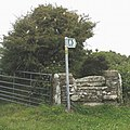 A stile and a litter strewn tree - geograph.org.uk - 869813.jpg