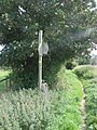 A three way sign post where footpaths converge in fields at East Hardwick. - geograph.org.uk - 535624.jpg