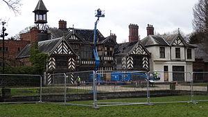 Wythenshawe Hall - Wythenshawe Hall after the fire
