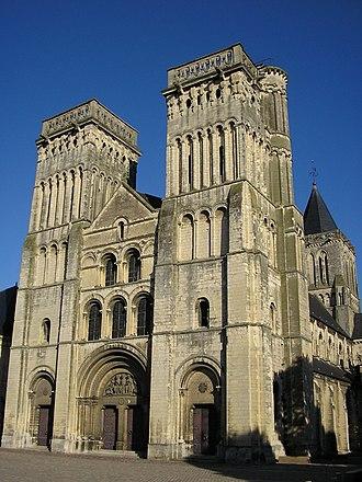 Abbey of Sainte-Trinité, Caen - Facade.
