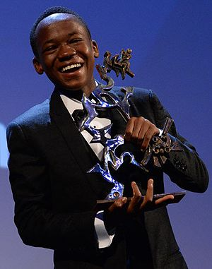 Premio Marcello Mastroianni - Abraham Attah with the Premio Marcello Mastroianni