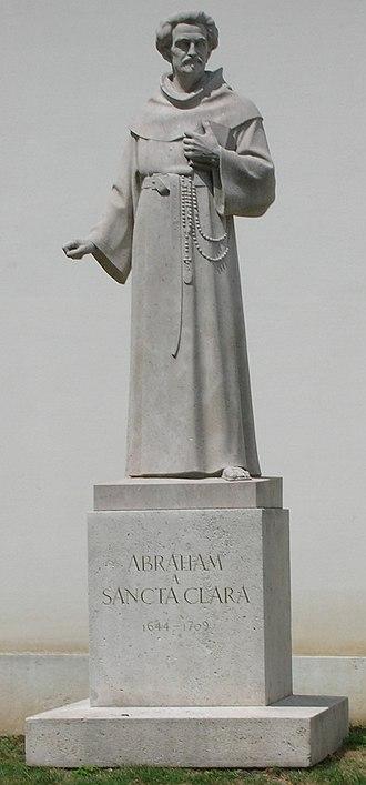 Abraham a Sancta Clara - Statue of Abraham a Sancta Clara, outside the Imperial Palace, Vienna