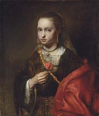 Portrait of a Girl holding a rose