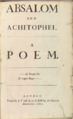 Absalom & Achitophel, title page.png