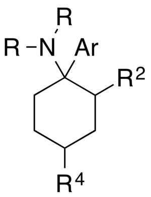 Arylcyclohexylamine - General structure of arylcyclohexylamines