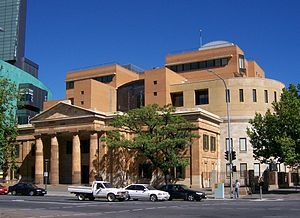 Magistrates Court of South Australia - View of the Adelaide Magistrates Court building.