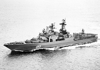 Russian destroyer Admiral Vinogradov - Image: Admiral Vinogradov 1989