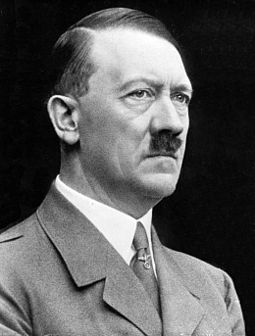 Adolf Hitler led Germany during World War II. Adolf Hitler cropped restored.jpg