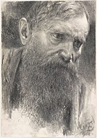 Adolph von Menzel Kopf eines Mannes mit Vollbart 1894.jpg
