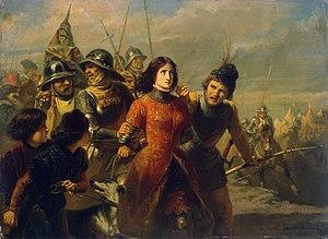 Adolf Alexander Dillens - The Capture of Joan of Arc, ca. 1850, now in the Hermitage Museum in Saint Petersburg