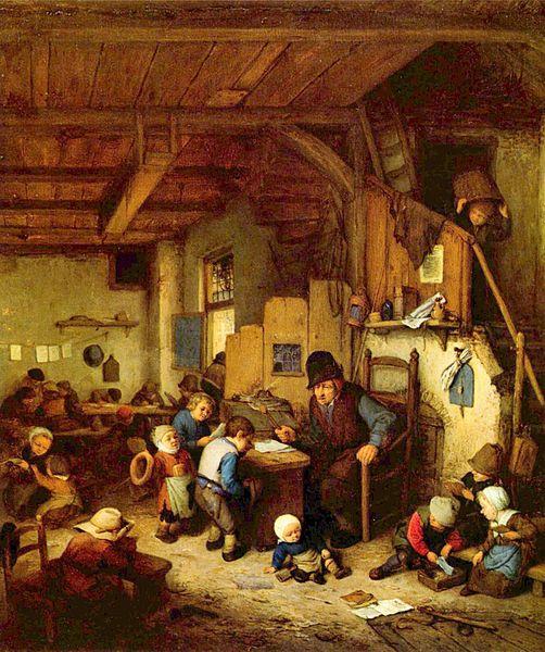 Adriaen van Ostade's schilderij van de leraar