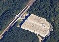 Aerial view of BWI Rail Station, September 2018.JPG
