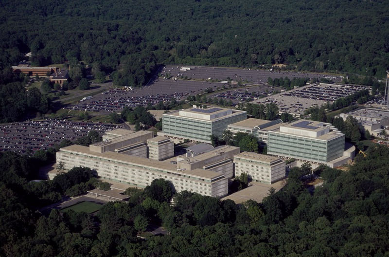 Aerial view of CIA headquarters, langley, virginia 14760a