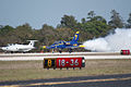 Aero Vodochody L-39C Albatros and L-29 Delfin Beetle Takeoff 02 TICO 13March2010 (14576359796).jpg