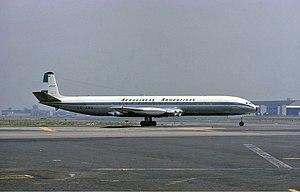 Aerolíneas Argentinas - An Aerolíneas Argentinas de Havilland Comet 4 at Idlewild Airport in 1965.