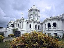 Facade of a Ujjayanta Palace, used earlier as the state's Legislative Assembly