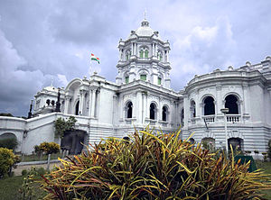 Tripura - Ujjayanta Palace, built in the 19th century as a replacement for a former royal palace destroyed in an earthquake, was used until 2011 as the meeting place of Tripura's State Legislative Assembly.