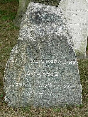 Elizabeth Cabot Agassiz - Gravestone of Louis and Elizabeth Agassiz