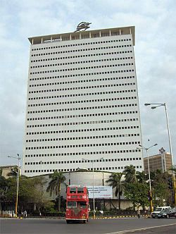 The headquarters of Air India in Mumbai, India.