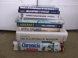 A selection of avaiaton reference books