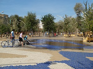 La Alameda, Seville - Fountains in La Alameda