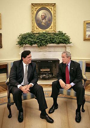 Alan García - Alan García at the White House.